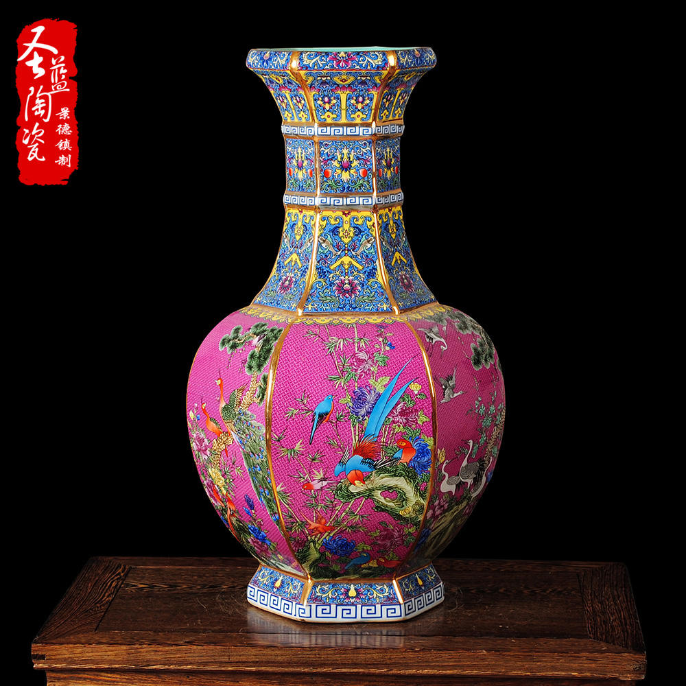 Jingdezhen ceramic imitation of the qianlong shelf classical chinese antique vase ornaments collectibles gifts porcelain