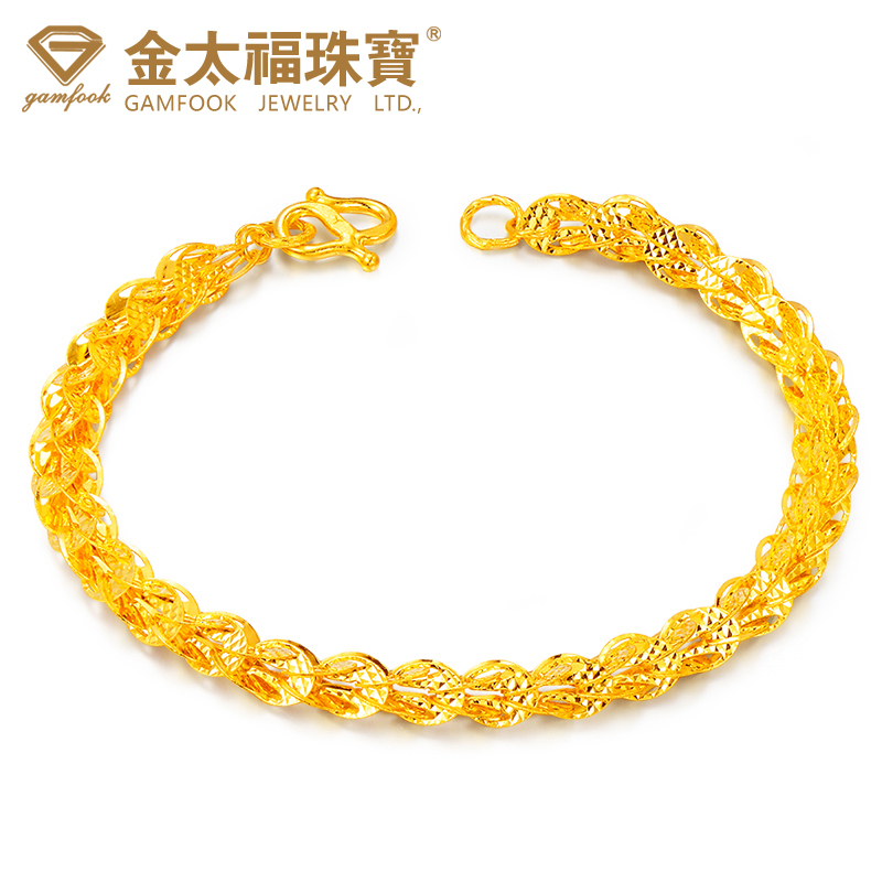 Jintai fu jewelry gold bracelet gold bracelet gold bracelet married ms. bracelet bracelet pteris wedding