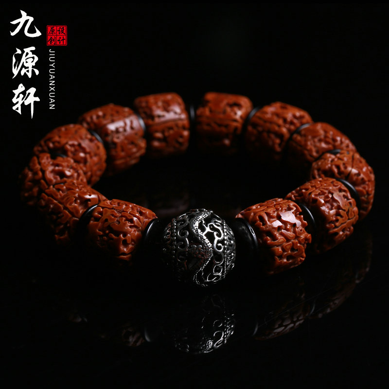 Jiuyuan xuan seiko nepal five five six toothless donkey kong pu tizi rosary beads hand string bracelet for men red