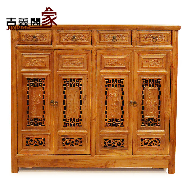 Jixin court antique ming and qing chinese classical furniture cabinets solid wood chest of drawers storage lockers shoe