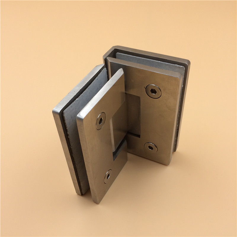 Jls304 stainless steel glass door hinge glass door hinge bathroom clip 90 degrees shower glass door folder double Folder