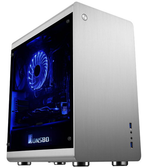 Jonsbo/qiao sibo rm3 herculite colorplate double silver aluminum m-atx chassis side of the large side through