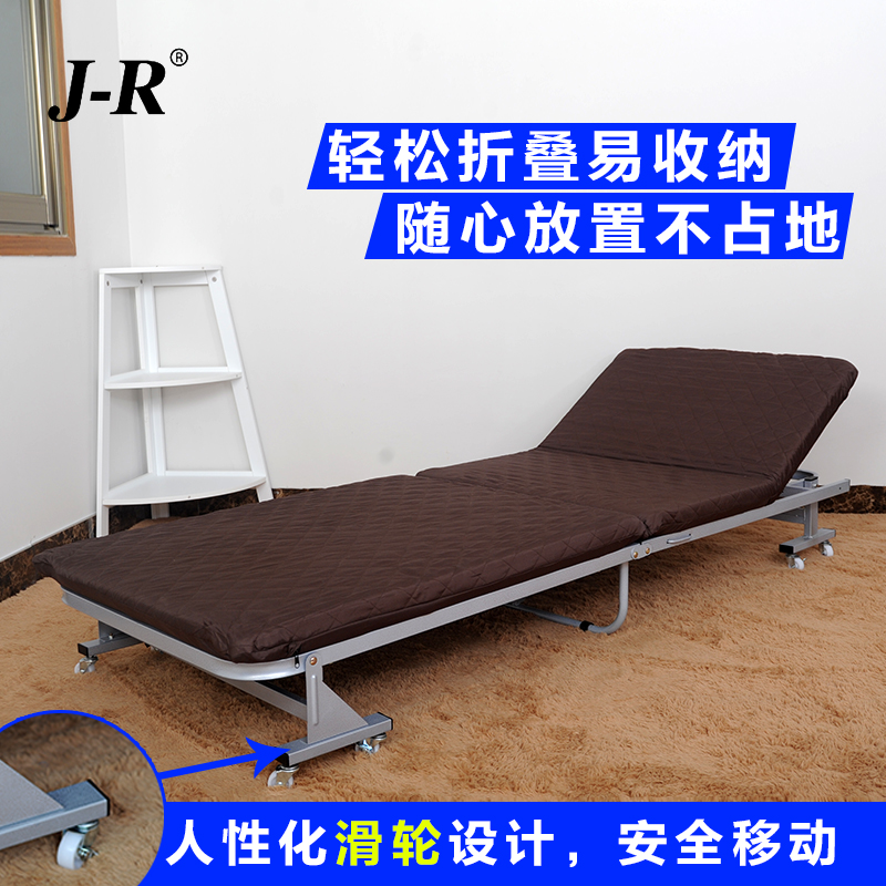 Jr sponge off two free installation folding bed folding bed single bed office lunch siesta folding bed linen person accompanying bed cot