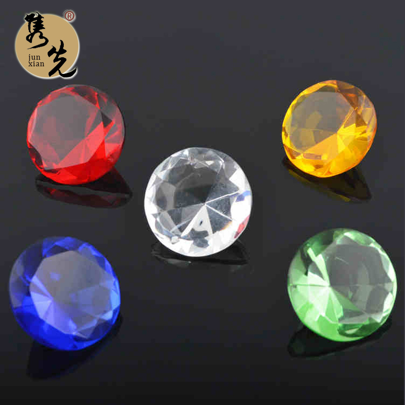 Juan artificial before 5 color transparent crystal glass diamond white/yellow/red/blue/green small pocket Diamond gem