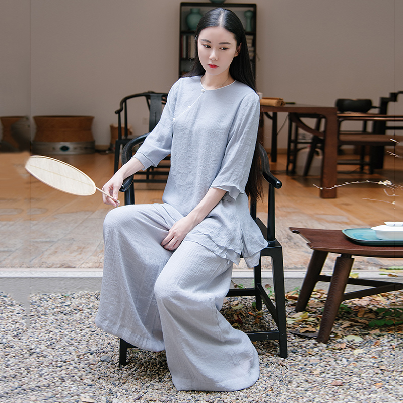 Jubonnie/jia peini jhÄna ock chinese style improved chinese cheongsam new retro gray clothes suit