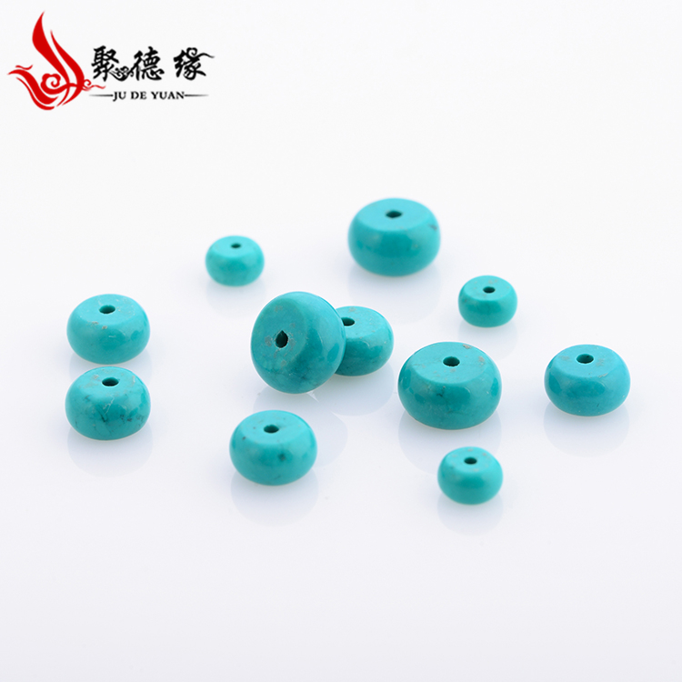 Jude edge 4/6/8/10mm optimization turquoise blue turquoise spacer spacer beads abacus beads loose beads diy accessories