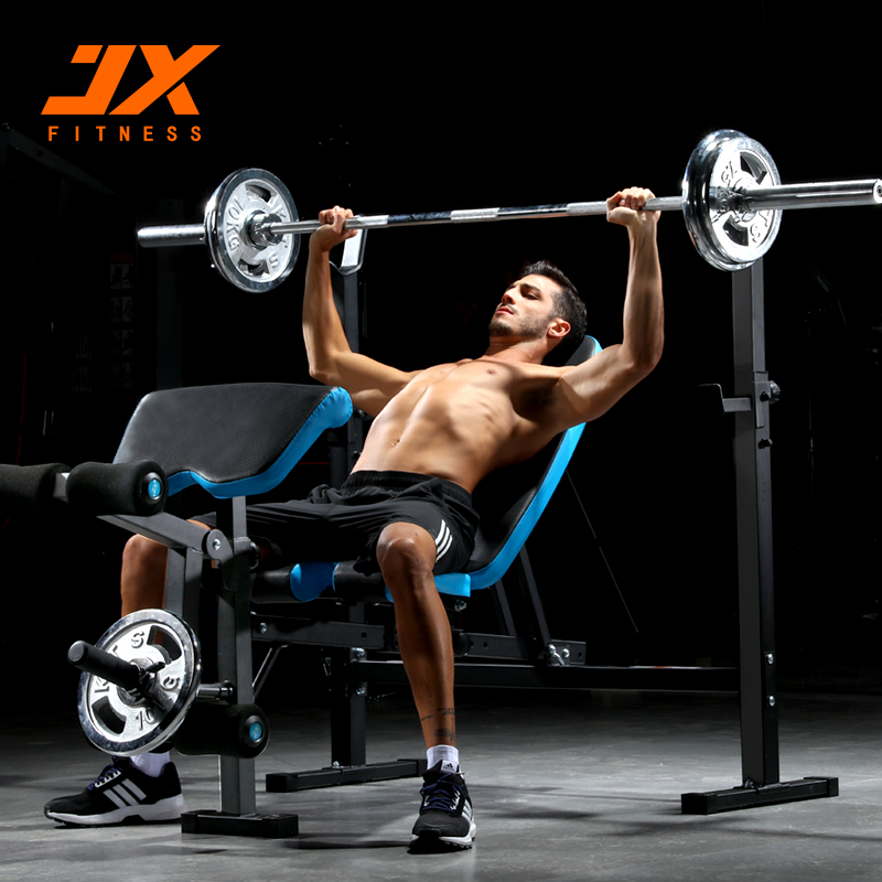 Junxia barbell bench press rack barbell barbell home fitness suite bed multifunctional bed bell bench squat rack weightlifting bed