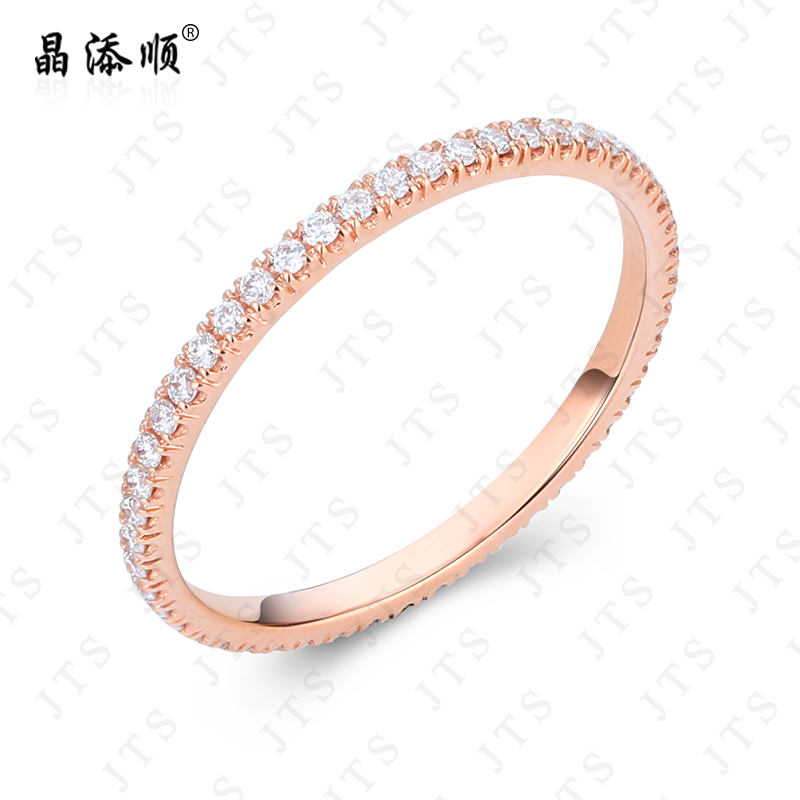 K gold diamond cluster ring k gold ring nvjie row row diamond ring wedding engagement ring jewelry counter genuine