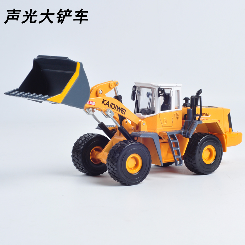 Kaidi wei 1:40 acoustooptic large forklift truck alloy model car toys for children gift box