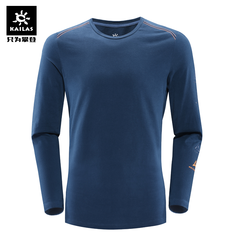 Kailas/keller stone male and female models outdoor sports elastic round neck long sleeve t-shirt DG810006