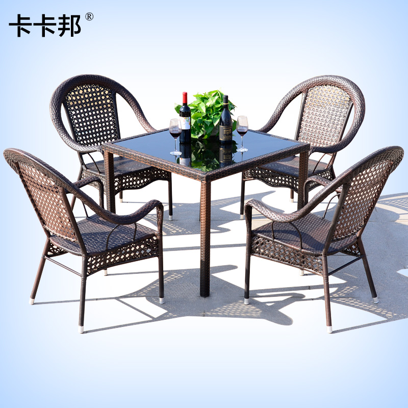 Kaka bang outdoor furniture wicker chair wicker chair combination rattan chairs coffee table wujiantao outdoor courtyard terrace lounge bar