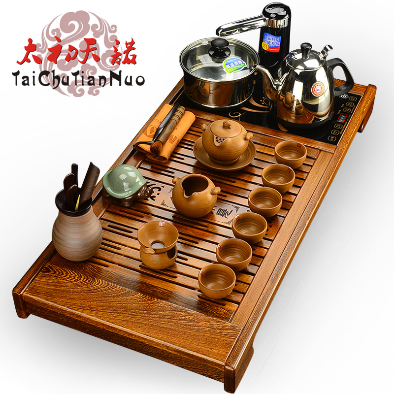 Kamjove/gold stove R350A wenge wood tea tray tea sets ru porcelain tea entire kung fu tea set special offer