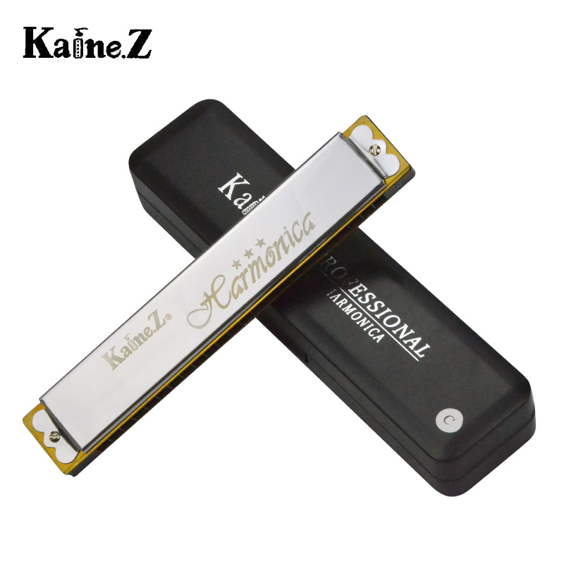 Kane 24 hole harmonica polyphony k2401 level playing harmonica senior c tune beginner genuine send materials bag mini