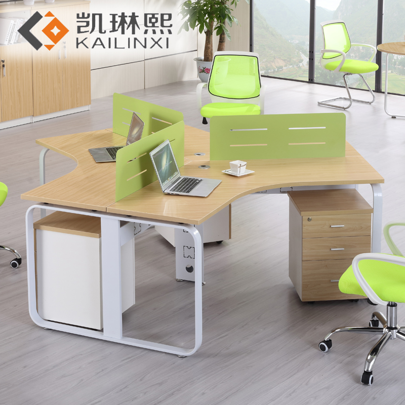 Karen hee guangzhou office furniture office wall partitions office desk computer desk staff employees when 4 people minimalist