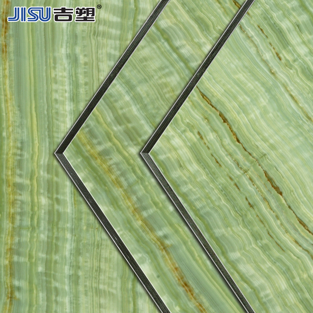 Kat plastic 4mm15 silk jade bamboo curtain wall aluminum composite panel facades advertising the door header background uv aluminum plate aluminum Plate