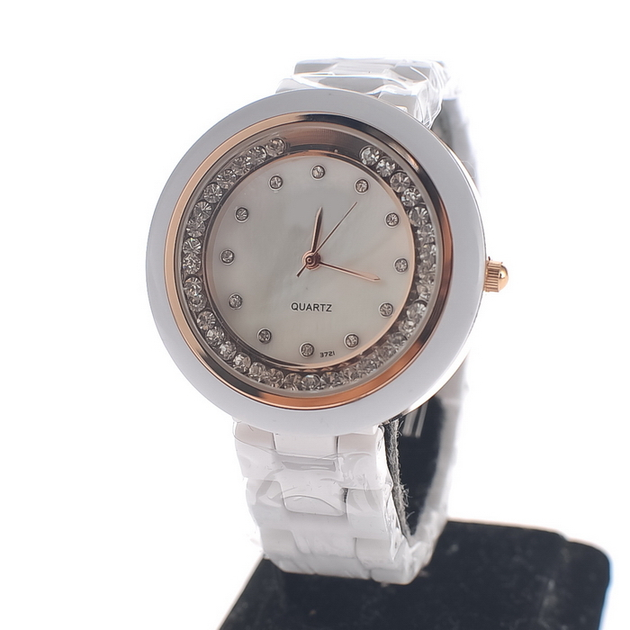 Kat silver ornaments full of diamond ceramic watches female form ceramic table white ceramic ladies watch ladies fashion watch 2 colors