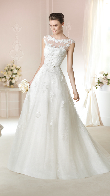 Kate milano 2016 new custom wedding dress sweet word shoulder a pendulum was thin bride wedding dress trailing