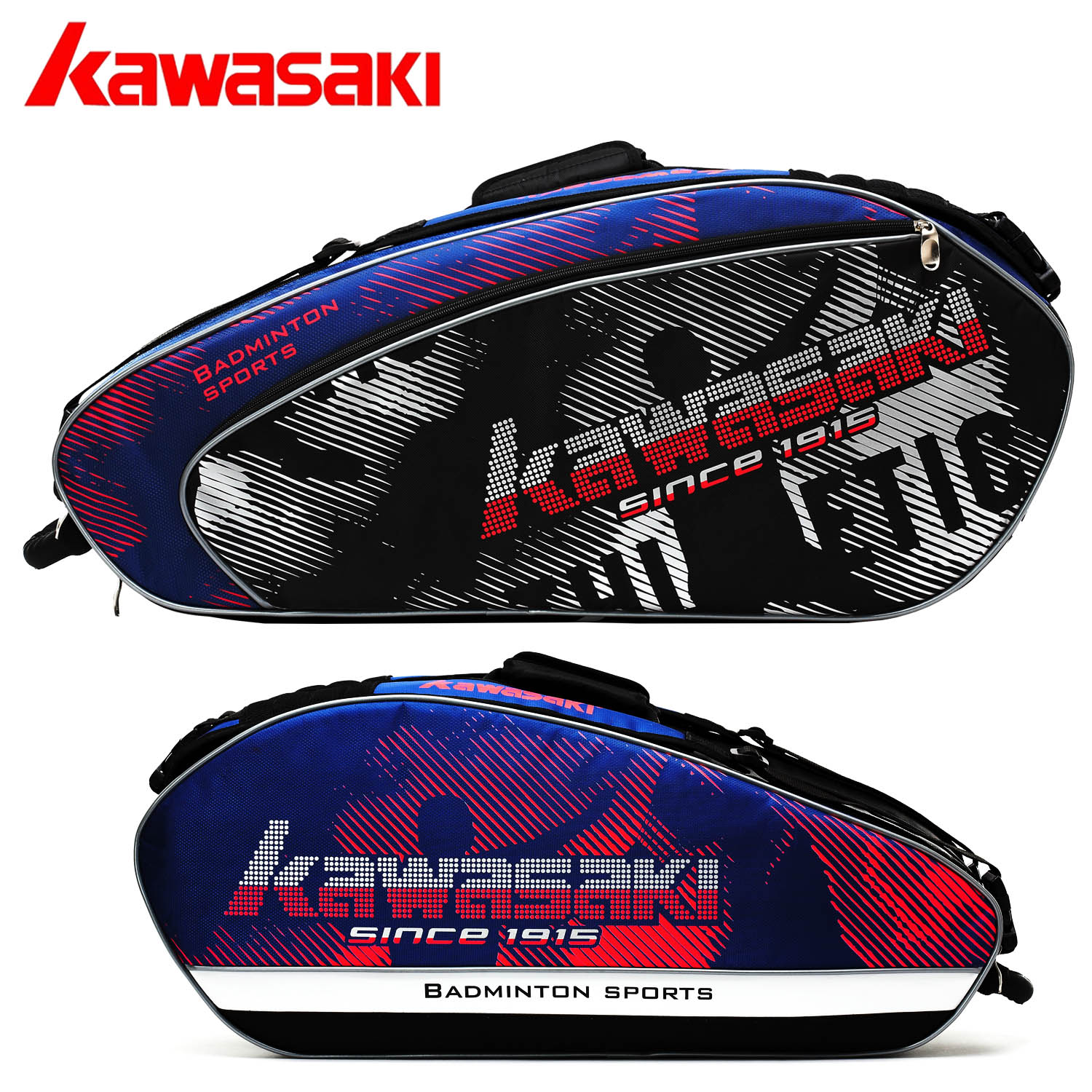 Kawasaki badminton bag 6 sticks 3 sticks tennis racket bag badminton racket bag backpack bag men and women