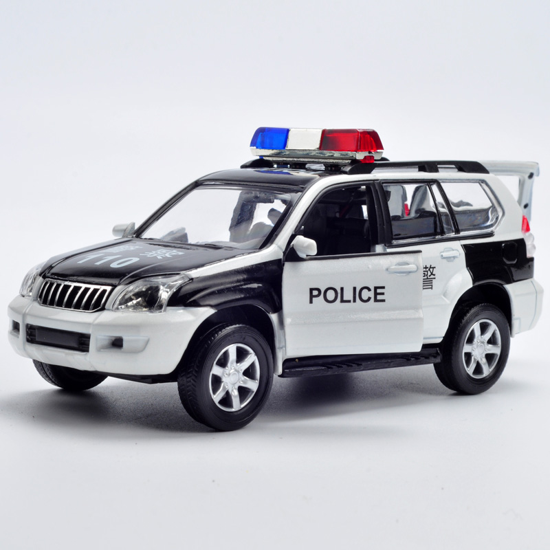 Kawei 1:32110 toy police car alloy car models children's toy car boy car model sound and light back to power