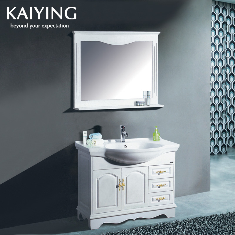 Kay eagle european oak floor bathroom cabinet vanity wash basin basin (100 cm) KY-9829
