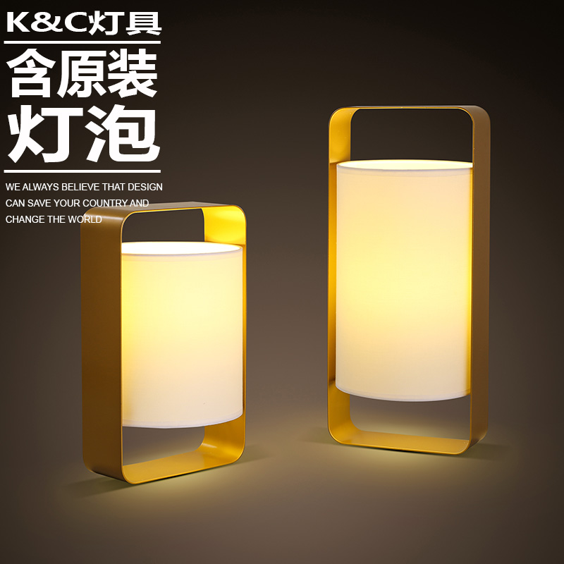 Kc lamps nordic creative personality modern minimalist living room bedroom stylish desktop lamp head lamp night light bedroom bed