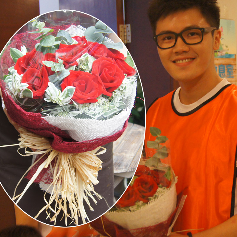 Ke beans recommended tanabata valentine's day flower delivery flowers changsha in hunan xiangtan penang incense gift bouquet of roses
