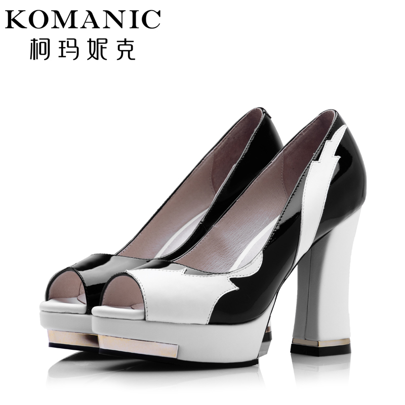 Kema penny summer elegant spell color trend casual shoes women fish head thick with high heels shallow mouth shoes female tide