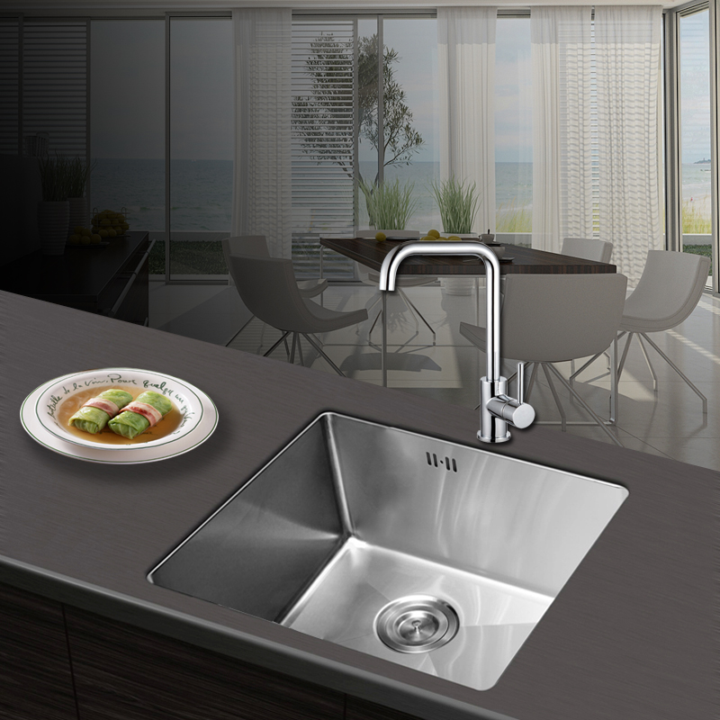 Kenle bathroom sus304 stainless steel sink kitchen vegetables basin kitchen sink basin hand basin sink 4540