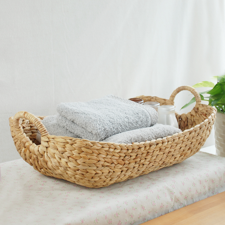 Kens imported rattan straw boat toy storage basket laundry basket debris bucket compartment finishing basket
