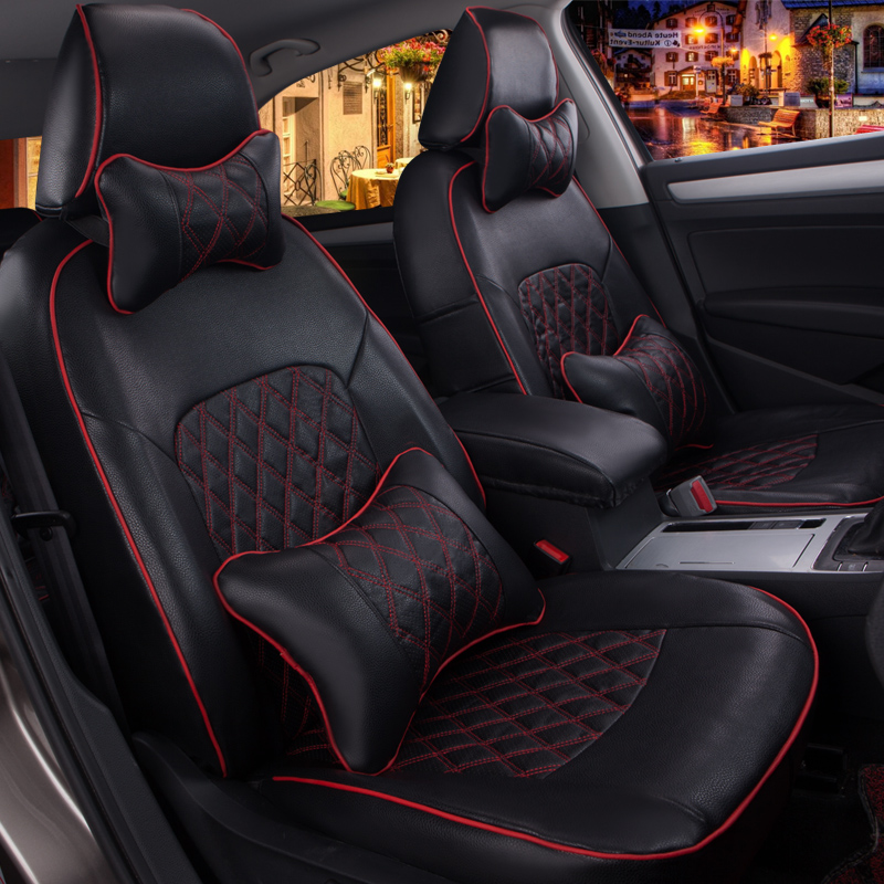 Kia k2 hatchback car seat cover seat cover new special seat cover seat cover four seasons leather cushion four seasons general wholly surrounded by light luxury car mats sets