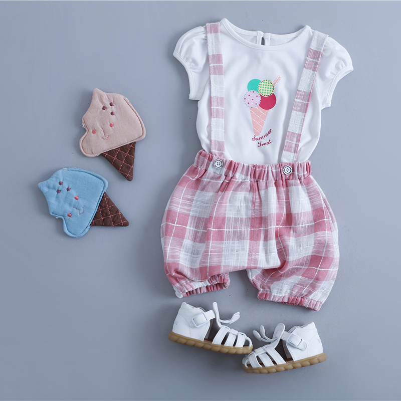 Kids 2016 new female baby summer shorts 0-1-2-3-4-year-old baby bib korean version of the influx of female children's clothing