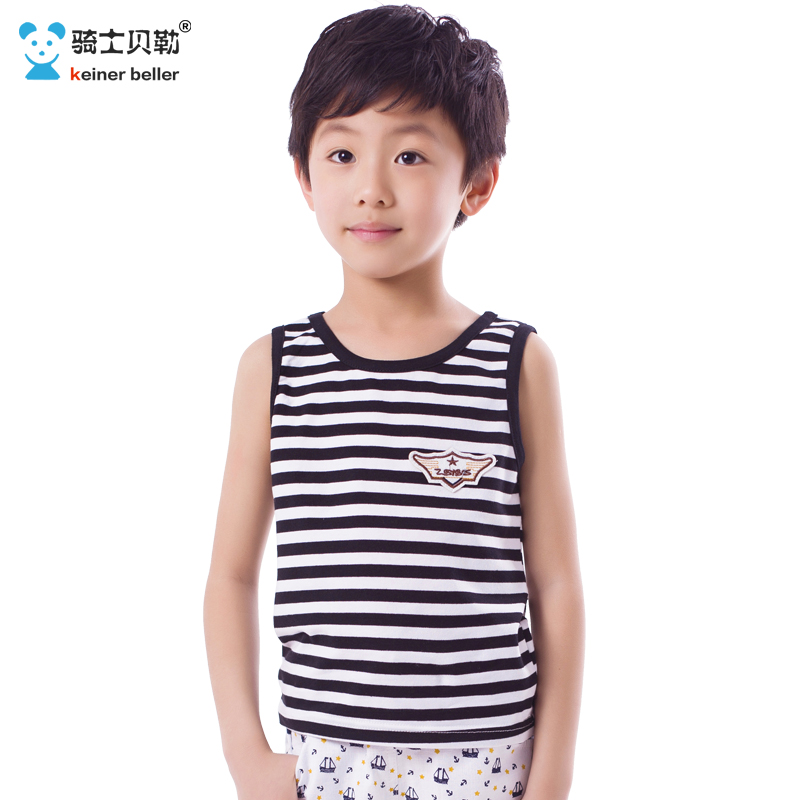 Kids boys summer 2016 korean version of the influx of children striped vest cotton vest youth sleeveless bottoming underwear