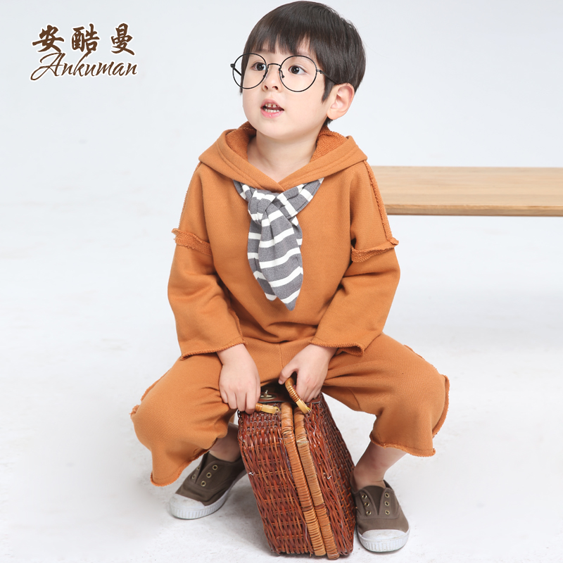 Kids children's suits boy suit autumn 2016 new four to six years old children's spring and autumn korean cotton leisure suit piece suit