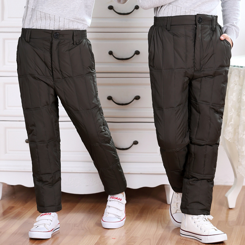 Kids family fitted autumn beaver medium and small boys and girls wild casual pants winter trousers boy pants to wear inside and outside