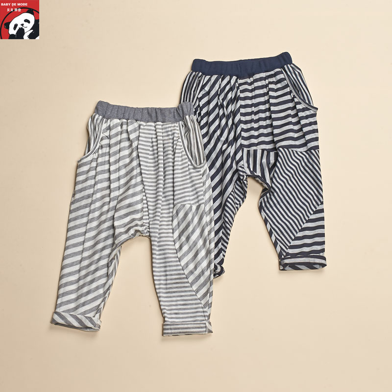 Kids spring and autumn spring and summer [babe modern authentic] knit pants
