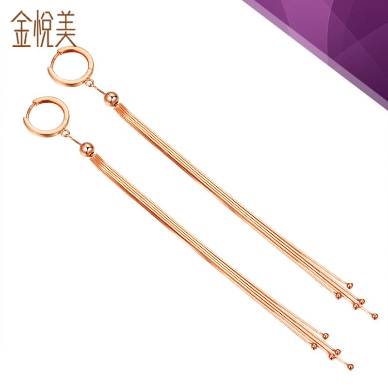 Kim wyatt us yi gu k gold rose gold earrings flashing temperament earrings ear wire earrings female new autumn and winter