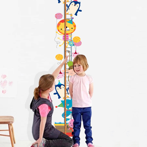 Kindergarten classroom wall furnishing baby measuring height sticker bedroom wall stickers cute cartoon boys and girls
