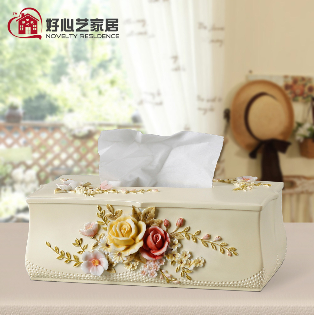 Kindly arts creative tissue box tissue box pumping tray european pastoral living room minimalist home pumping tray pansy
