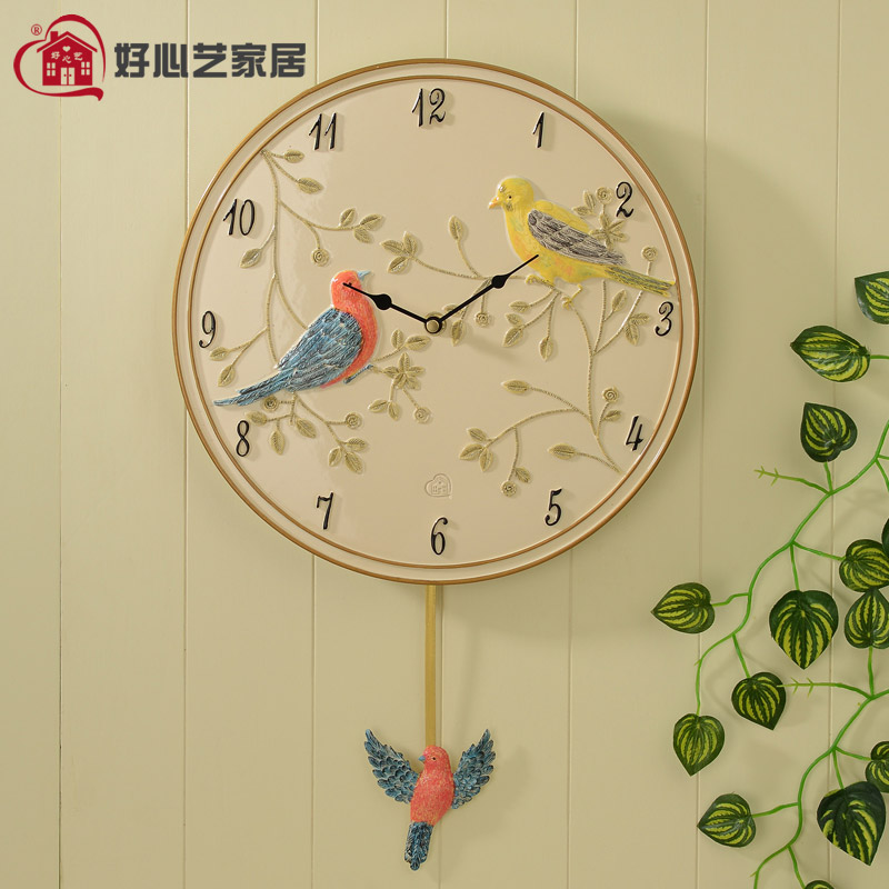 Kindly arts european modern minimalist living room decorative wall clock pendulum clock personalized watches fashion living room wall clock