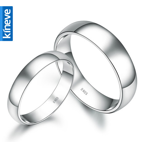 Kineve couple rings 925 silver rings men's boutique ms. couple ring korean fashion jewelry