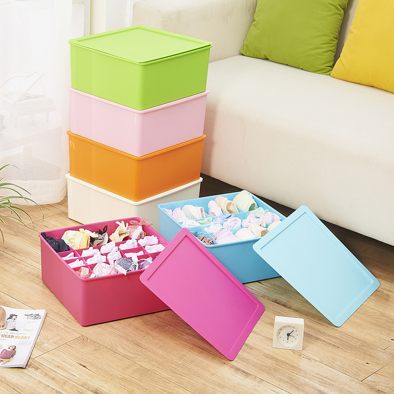 King covered storage box plastic storage box underwear bra underwear socks storage box pumping drawer sorting box storage box