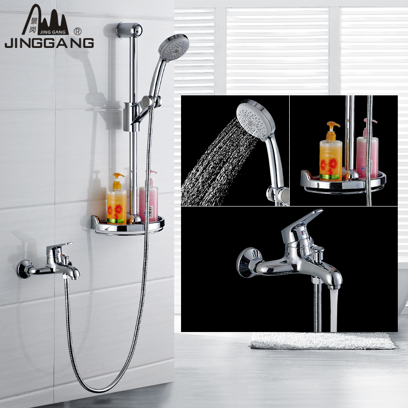 King kong bathroom suite full bathroom shower faucet with lift full copper hot and cold air pressurized showerheads