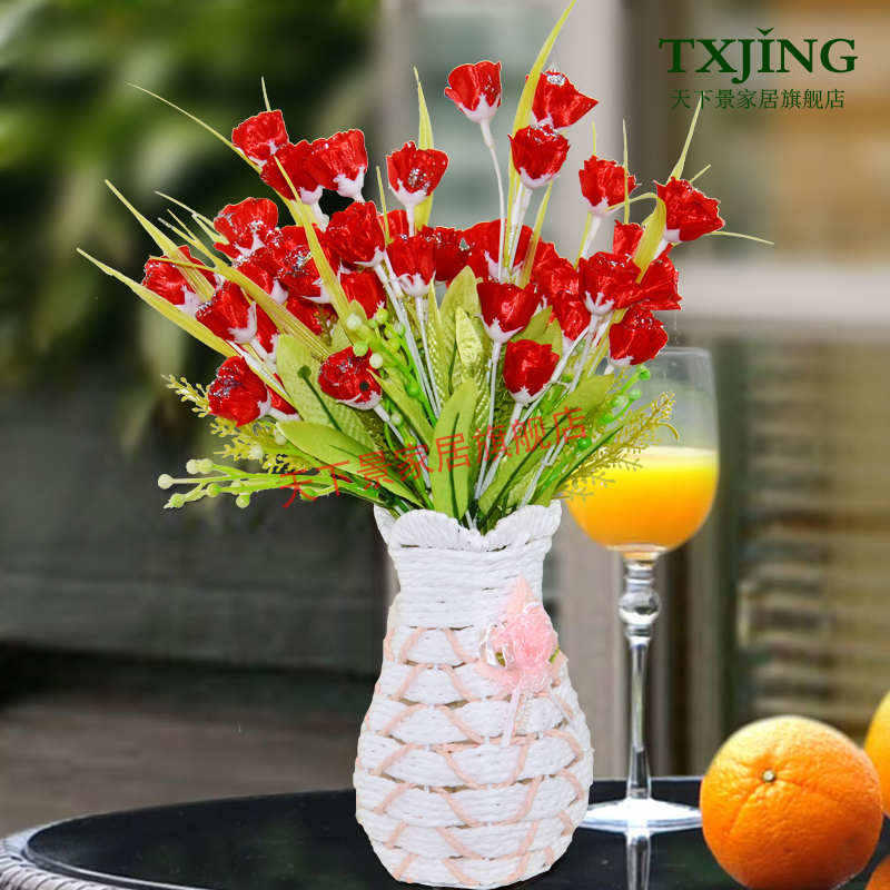 King of the world european artificial flowers suit the living room home furnishing accessories bouquet fake floral silk flower vase decoration