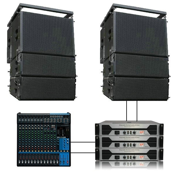 Kingaudio/huang sound L2812 (2 + 1) dual 12 inch line array speaker professional sound stage performances Kit