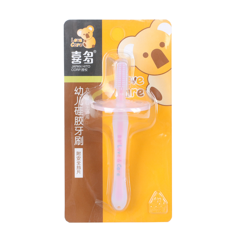 Kita infant toothbrush silicone baby milk baby toothbrush 6 months or more baby training toothbrush with mouth clean