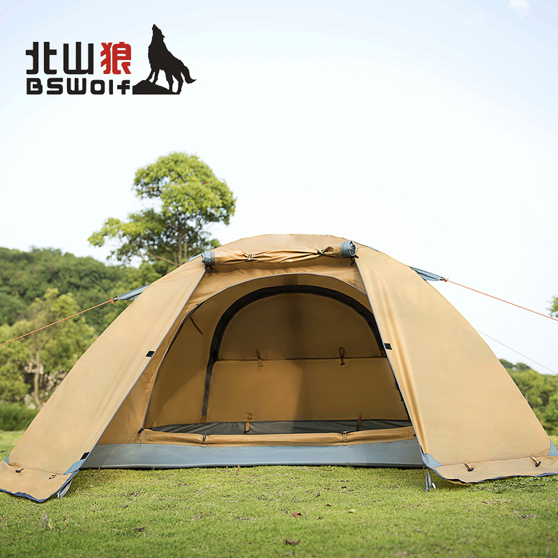 Kitayama wolf outdoor camping tent 2 people a couple of outdoor seasons double rain tent outdoor equipment