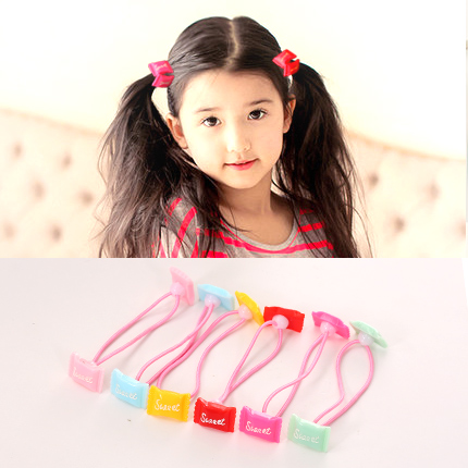 Know borderies starfish hair ring tousheng korean children's hair accessories acrylic cartoon rabbit baby girls rubber band headed