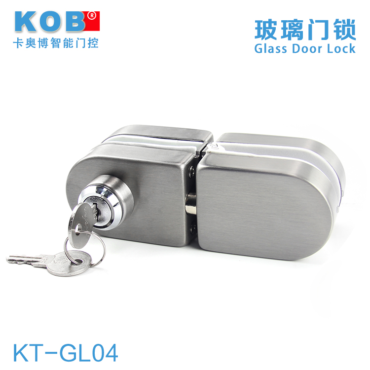 Kob single door double door glass door openings free stainless steel key lock glass door lock glass door lock bolt