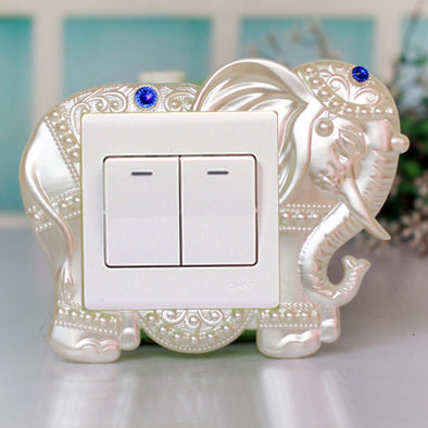 Korea creative home wall stickers european pastoral resin switch stickers decorative wall socket switch sets european