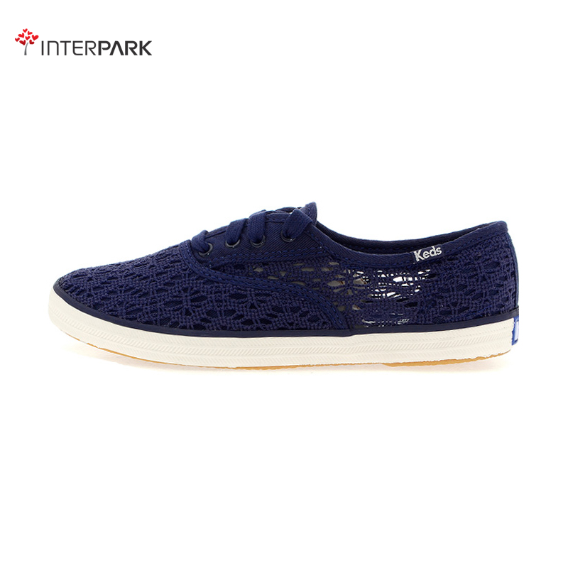 Korea genuine direct mail keds WF52701 crochet knit openwork lace canvas shoes female models